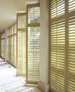 bi-fold plantation shutters